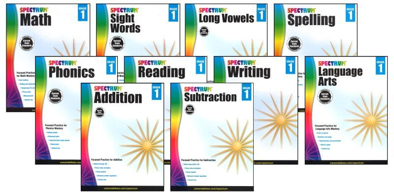 SPECTRUM Curriculum Package for Grade 1 - Set of 10 Workbooks