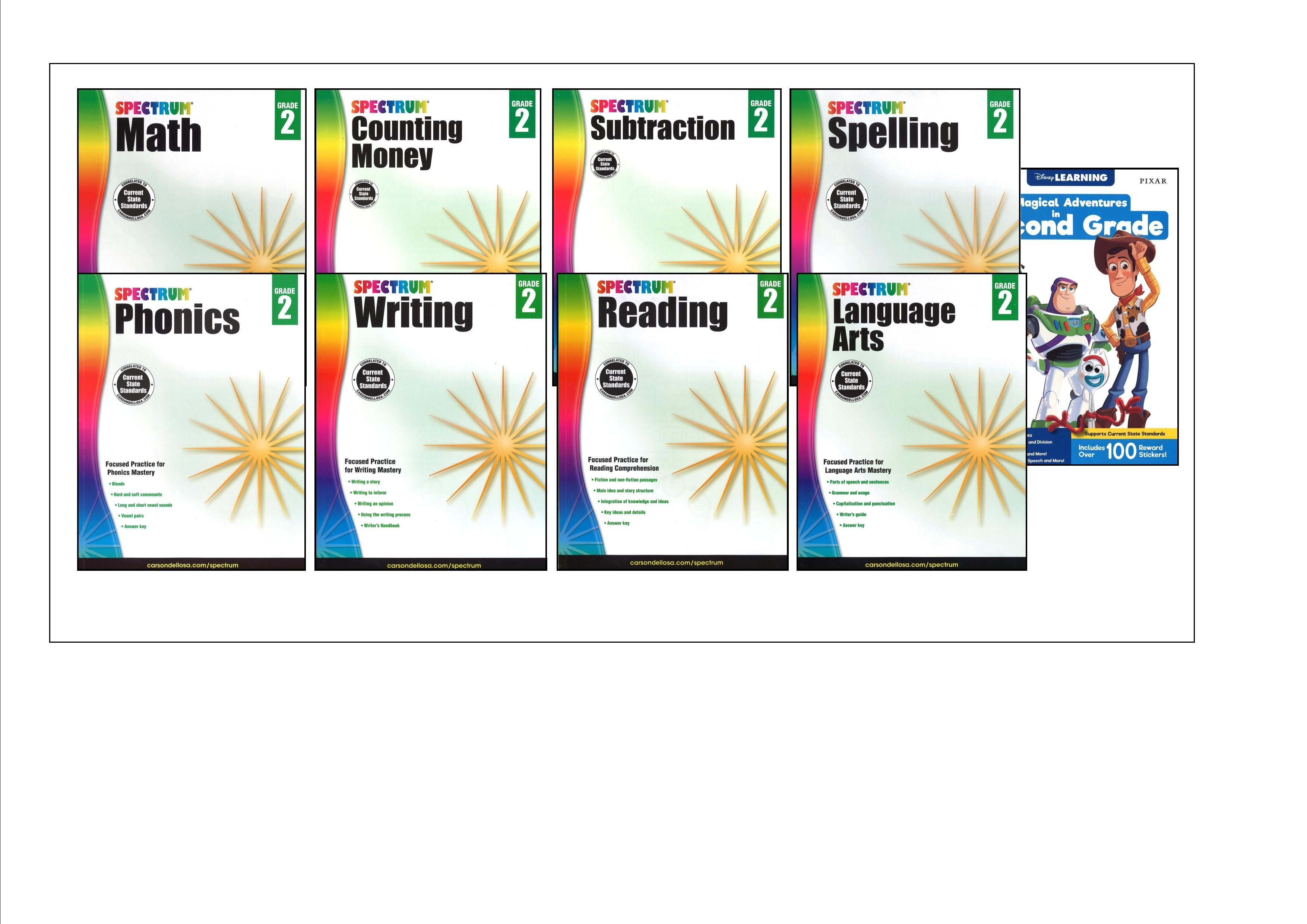 SPECTRUM Curriculum Package for Grade 2 - Set of 9 Workbooks