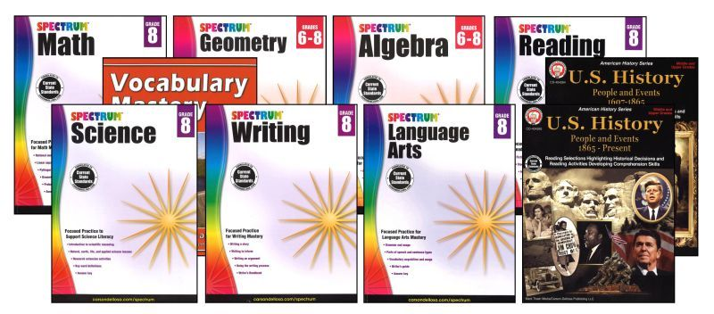 SPECTRUM Curriculum Package for Grade 8 - Set of 9 Workbooks
